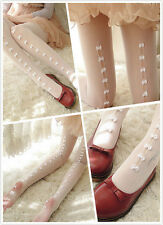 Sexy Bowknot Lace Hollow Stockings Socks Pantyhose Lolita Vintage Harajuku Amo