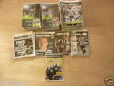 Newcastle Utd Home Programmes 2004/05  to 2011/12