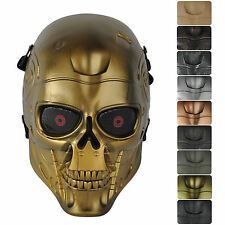 10 Colors Skull Eye Mesh Tactical Military Full Face Mask for Hunting CS Airsoft