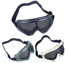 Metal Mesh Goggles Eyes Protector Glasses for Paintball Airsoft CS Sports Games