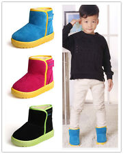 kids Winter warm plush lining Snow Boot skid resistance shoes Xmas gift boy girl