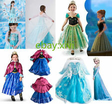 Vestit Disney FROZEN ELSA ANNA PRINCESS DRESS KIDS COSTUME PARTY FANCY 7-8 anni
