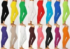 Womens Thick Warm Full Length Cotton Leggings UK Size 6-28 & All Colours