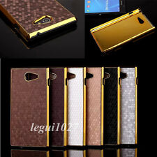 For Sony Xperia M2 S50h/Dual D2302 Bling Chromed Hard PC Back Shell Cover Case