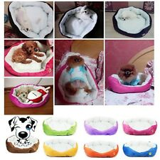 Soft Warm Washable Fabric Puppy Pet Cat Dog House Basket Bed with Fleece Lining