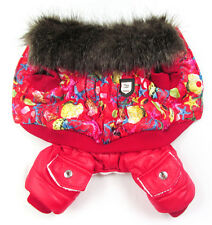 1Pc New Cute Sea Picture Printing Pet Dogs Winter Coat Dogs Clothes Red/Blue
