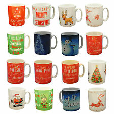 JOLLY CHRISTMAS FINE CHINA MUGS IN 12 DESIGNS TOP QUALITY AT A CHEAP PRICE
