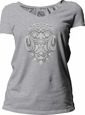 Big Texas Indonesian Theatre Mask Women's Short-Sleeve V-Neck T-Shirt