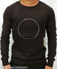 NEW WT MEN'S VERSACE LONG SLEEVE BROWN T-SHIRT STONY MEDUSA SWEAT-SHIRT