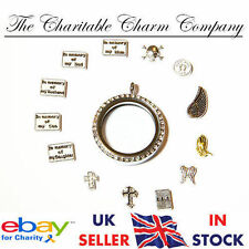Religion God Death Cross RIP Theme Style Charms Floating Living Memory Locket