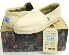 Toms Womens Classics Shoes Natural Canvas Slip-On - All Sizes