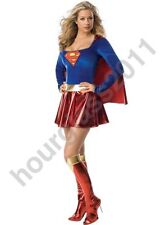 Supergirl Fancy Dress Costume Super Hero Sexy Hen Party Outfit Cosplay Ladies