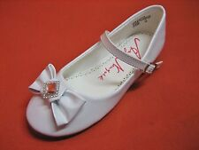 New Girls White Dress Flats/Communion/Baptism/Casuals Sizes 9 Toddler to 5 Youth
