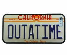 BACK TO THE FUTURE OUTATIME LICENSE PLATE TPU PHONE CASE FOR 4 4S 5 5C 6 6 PLUS