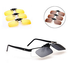 Polarized Lenses Universal Clip-on Sunglasses Myopia Cycling Glasses 4 Color