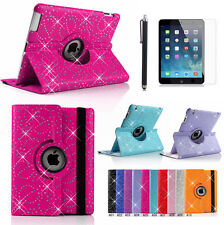 360° Swivel Rotating Bling SPARKLY Leather Case Cover for ipad 6 ipad air 2+Gift