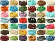 Smooth waxed HEMP cotton string cord twine 1mm Jewelry Macrame Crafts Beading