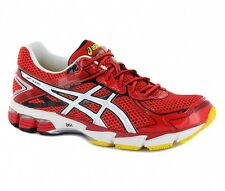 Asics Mens 1000 v2 Red Lace Up Synthetic Running Trainers