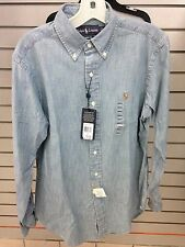 NWT* POLO RALPH LAUREN CLASSIC FIT LONG SLEEVE CHAMBRAY SHIRT. Sizes: S,M,L,XL