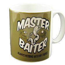 Master Baiter Mug - Funny Fishing Angling Carp Sea Fly Coarse Match Gift Cup