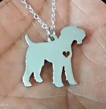 Sterling Silver .925 I heart Dog Necklace Airedale Terrier or your animal choice