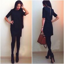 2014 Women Fashion Casual Autumn Winter Pencil Dress Work Wear Half Sleeve Dres