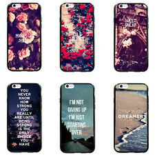 Vintage Rose Flower Hipster Quote TPU Bumper Hard case For iPhone4 4s 5 5s 6Plus