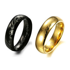 New Cute Titanium Gold Silver Band Ring Lord of Rings LOTR Jeweley Party Wedding