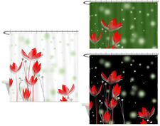 Large Red Flower Fantasy Art - Polyester Fabric Shower Curtain