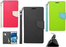 For Samsung Galaxy Note Edge Magnetic Flip PU Leather Wallet Pouch Case Strap SA