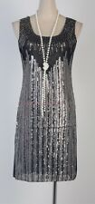 3 color! 1920's Flapper Dress Great Gatsby Party Silver Sequin Art Deco RD 3236
