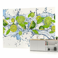 Lime Splash  PHOTO WALLPAPER WALL MURAL ROOM DECOR (288VE)