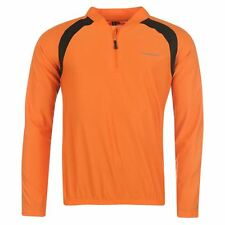 Muddyfox Mens Long Sleeve Orange Black Cycling Top Shirt Cycle Jersey Size Large