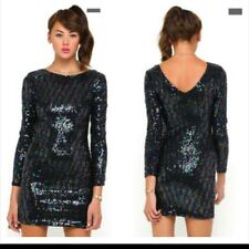 Motel Gabby Sequin Black Iridescent Sequin Party Dress BNWT Bodycon