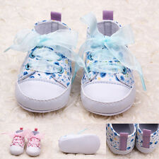 Baby&Toddler Girls Soft Sole Crib Shoes Infant Lovely Cute Floral Cotton Shoes
