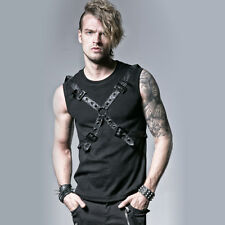 Punk Rave Vulcan Buckle Vest Top [Special Order] - Gothic,Goth,Black,Tee,Shirt,T