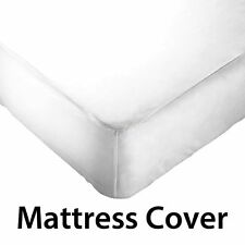 Mattress Protector One Qty Fitted Sheet Style  Made in India White