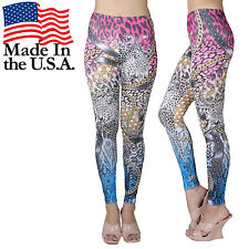 New Hot Design Animal Print Ombre Color Gold Chain Cool Tight Pants Leggings USA