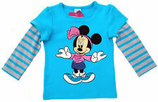 NEU! Disney Minnie Mouse Stretch Langarmshirt Shirt Longsleeve  116 128