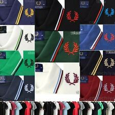 New Slim Fit MADE IN ENGLAND M12 Cotton Twin Tipped Polo Shirt Vintage