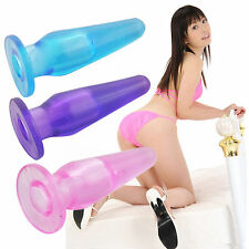 Mini Finger JELLY Anal Butt Plug Vagina Sex Toy Prostate Massage For Female Male