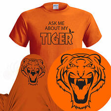 Ask Me About My Tiger  Mens Funny T Shirt  Xmas Christmas