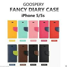 Genuine Goospery Leather Wallet Card Holder Case Cover for Apple iPhone 5/5s