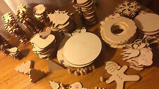 Make Your Own Hanging Christmas Tree Decorations Natural Wooden Craft Shapes