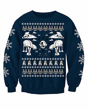 STAR WARS ADULTS  NOVELTY FESTIVE TV/FILM INSPIRED CHRISTMAS JUMPER SWEATSHIRT