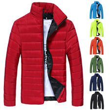 2015 Men's Designer Solid Color Winter Padded Coat Jacket Casual Coat Overcoat