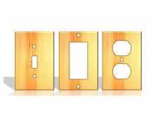 Pine Wood Light Switch Covers Home Decor Outlet