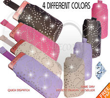FOR SAMSUNG CORBY 2 S3850 BLNG PULL UP TAB DIAMOND GLITTER POUCH SOCK CASE COVER
