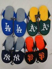 MLB Forever Collectibles Mens Jersey Mesh Slippers House Shoes