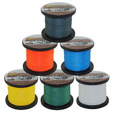 Super Power 500M/500+Yds Dyneema Spectra PE Braided Fishing Line 12 20 40 80LB